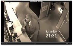 Key evidence: Mbolombo on CCTV at 9:31 pm on Saturday night.